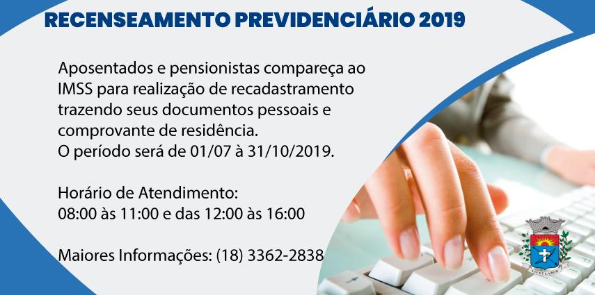 Recenseamento Previdenciário 2019